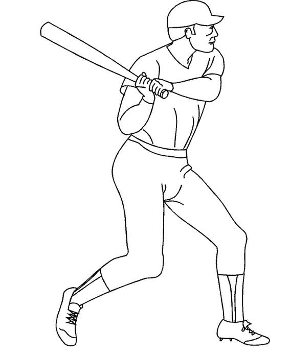 Coloriage et dessins gratuits Sport de Baseball à imprimer