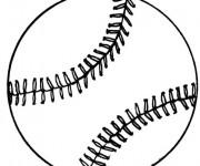 Coloriage et dessins gratuit Une Balle Baseball à imprimer