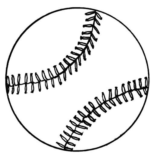 Coloriage une balle baseball dessin gratuit imprimer - Dessin dxf gratuit ...