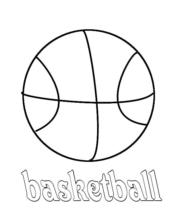 Coloriage et dessins gratuits Balle de Basket à imprimer