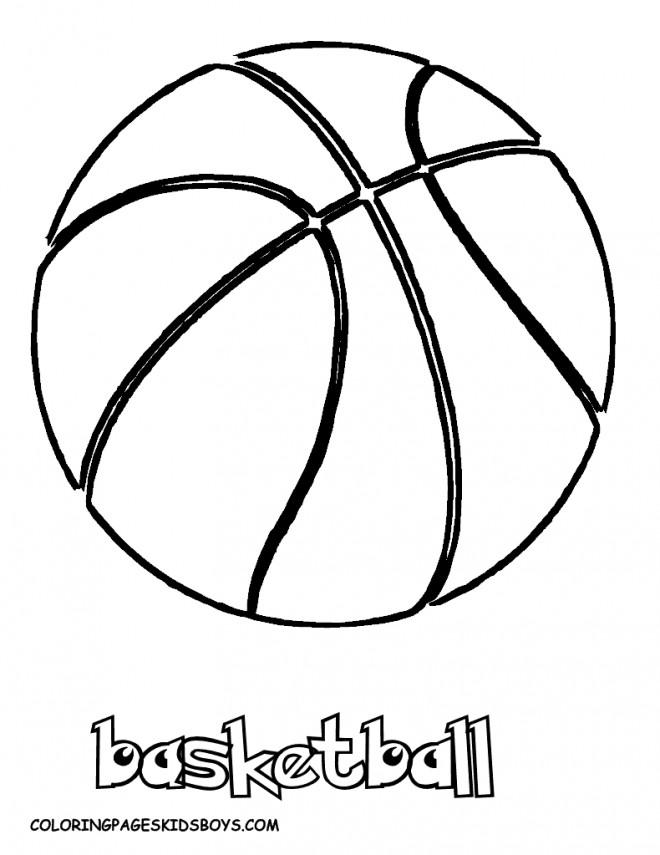 Coloriage et dessins gratuits Balle de Basket NBA à imprimer