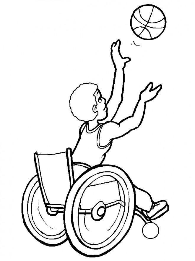 Coloriage et dessins gratuits Balle de Basket tirée à imprimer