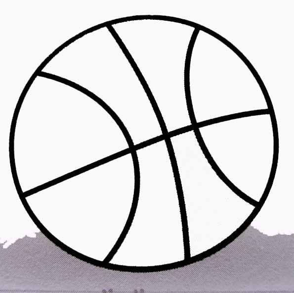 Coloriage et dessins gratuits Balle sur terrain de Basket à imprimer