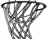 Coloriage Ballon de Basket dans le Panneau