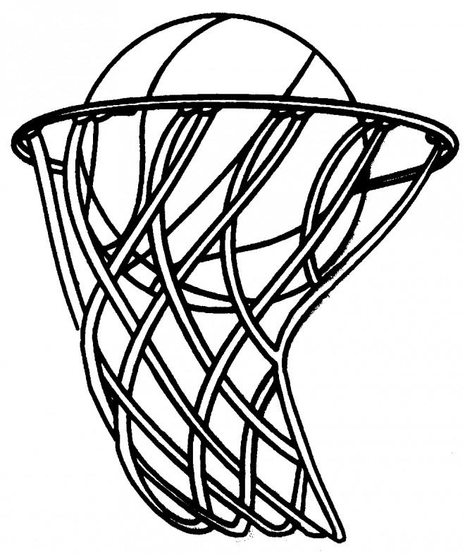 Coloriage et dessins gratuits Ballon de Basket dans le Panneau à imprimer
