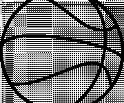 Coloriage et dessins gratuit Ballon de Basket en noir à imprimer
