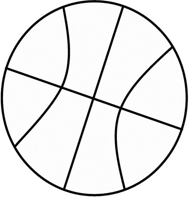 Gratuit Coloriage Facile Imprimer Ballon Kztoxipu À De Basket Dessin R534AjL