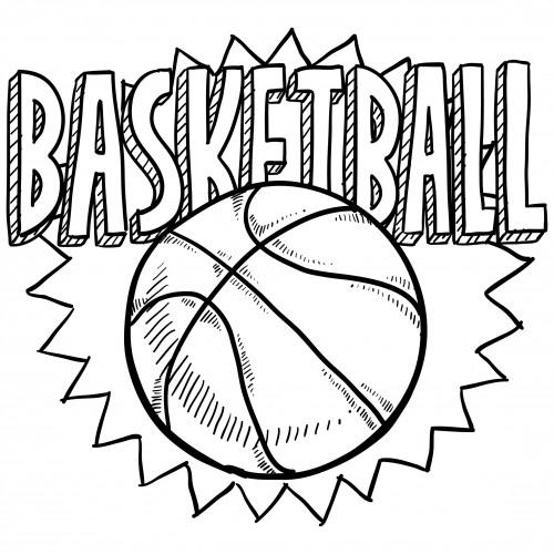 Coloriage ballon de basket sur ordinateur dessin gratuit imprimer - Dessin basketball ...