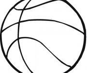 Coloriage Ballon du sport Basketball