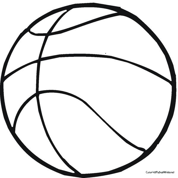 Coloriage et dessins gratuits Ballon du sport Basketball à imprimer