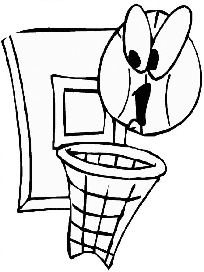 Coloriage et dessins gratuits Ballon et Basket à imprimer