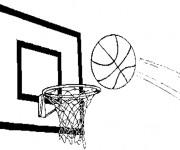 Coloriage Ballon vers le Panneau de Basket