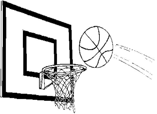 Coloriage Ballon Vers Le Panneau De Basket Dessin Gratuit A Imprimer