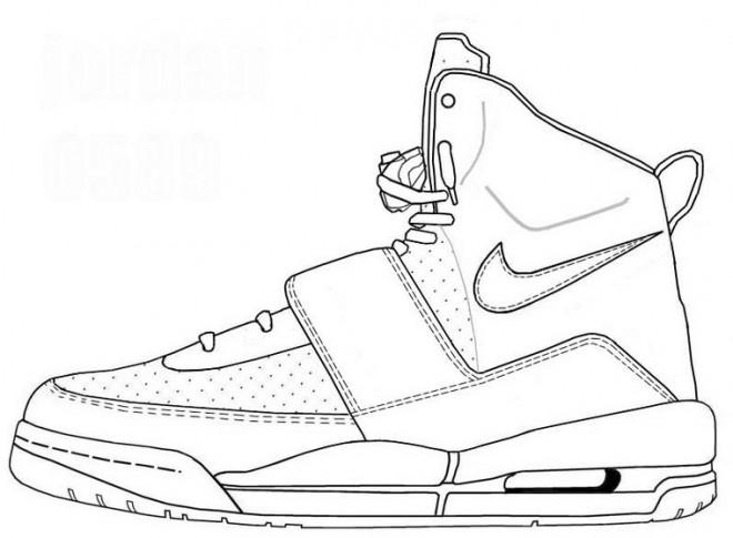 imprimer à gratuit Basket dessin Coloriage Chaussure O0w8nNPkX