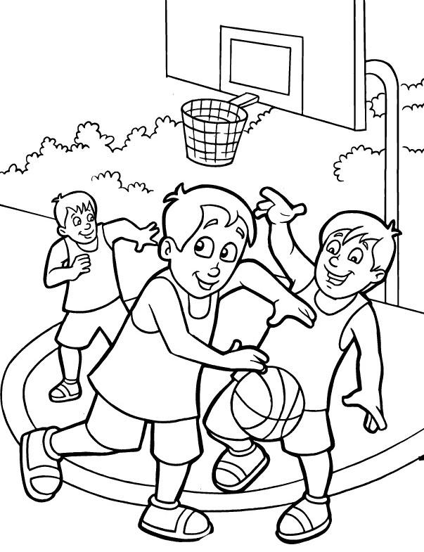Coloriage et dessins gratuits Basket en plein air à imprimer