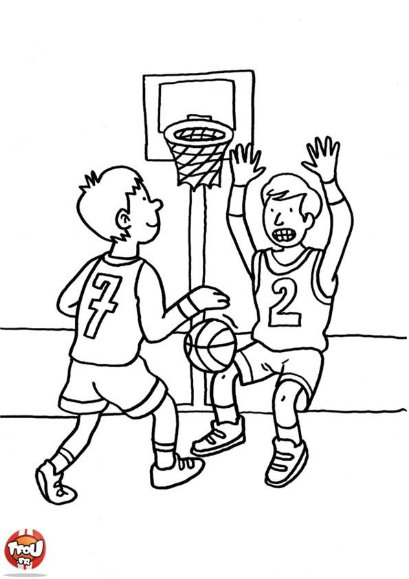 Coloriage et dessins gratuits Basket maternelle à imprimer