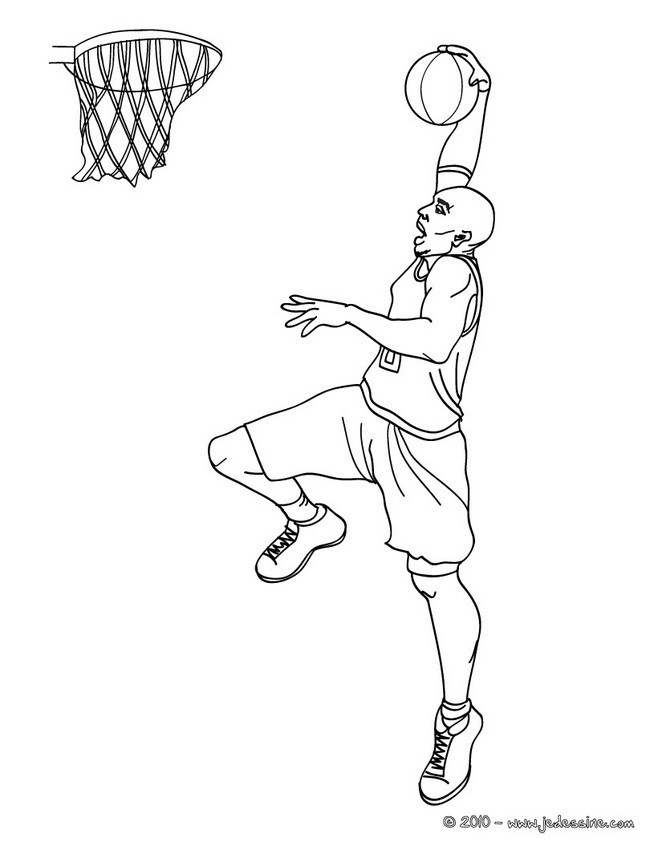 Coloriage Basket NBA dessin gratuit