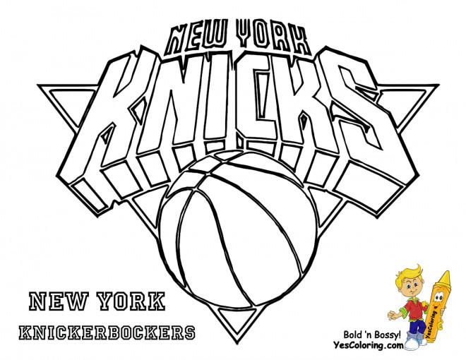 Coloriage et dessins gratuits Basket NBA Knicks à imprimer