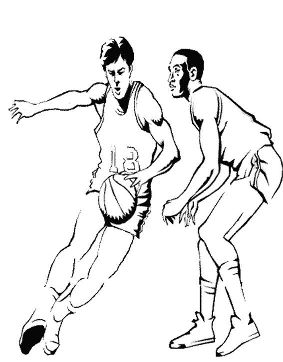 Coloriage et dessins gratuits Basket professionnel à imprimer