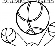 Coloriage et dessins gratuit Basket simple à imprimer