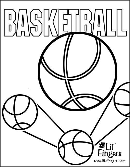 Coloriage et dessins gratuits Basket simple à imprimer