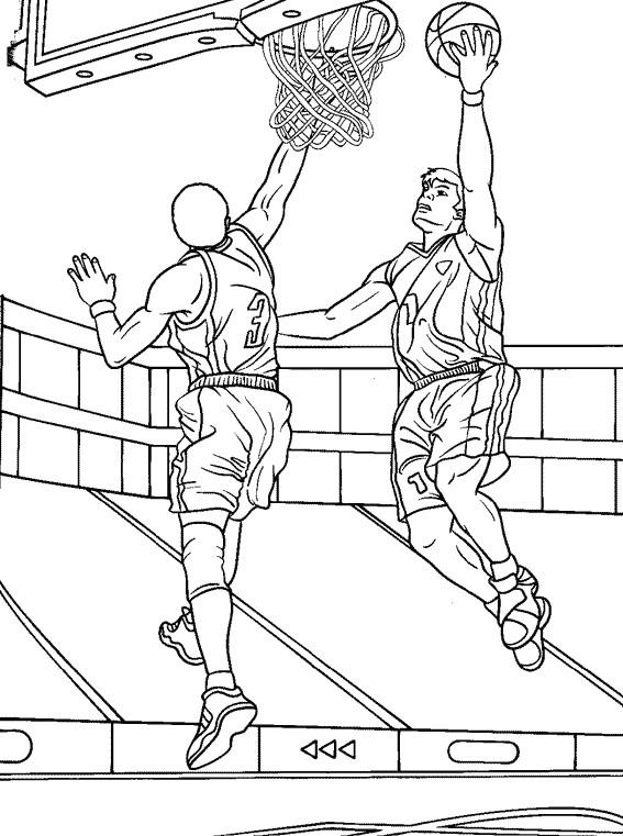 Coloriage et dessins gratuits Basketball 1 à imprimer