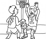 Coloriage dessin  Basketball 13
