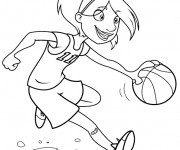 Coloriage dessin  Basketball 17