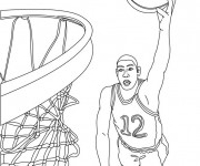 Coloriage dessin  Basketball 2