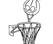 Coloriage dessin  Basketball 28