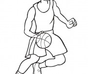Coloriage dessin  Basketball 33