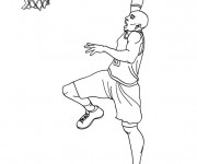 Coloriage dessin  Basketball 36