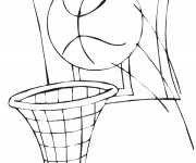 Coloriage dessin  Basketball 41