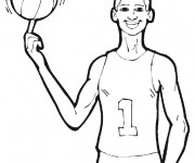 Coloriage dessin  Basketball 42