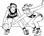 Coloriage dessin  Basketball 46