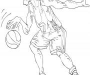 Coloriage dessin  Basketball 54