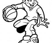 Coloriage dessin  Basketball 56