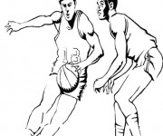 Coloriage dessin  Basketball 57