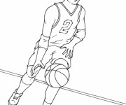 Coloriage dessin  Basketball 8