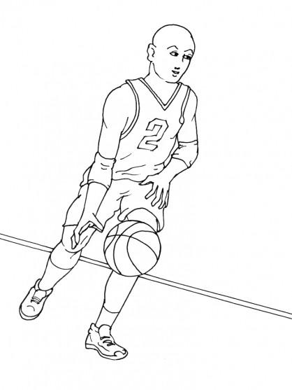 Coloriage et dessins gratuits Basketball 8 à imprimer