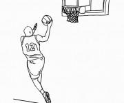 Coloriage et dessins gratuit Basketball 9 à imprimer