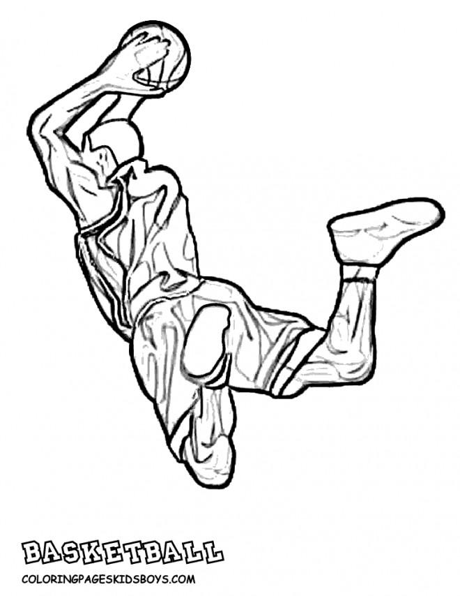 Coloriage et dessins gratuits Basketball au crayon à imprimer