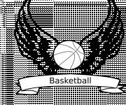 Coloriage Basketball en ailes
