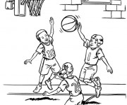 Coloriage Basketball Freestyle
