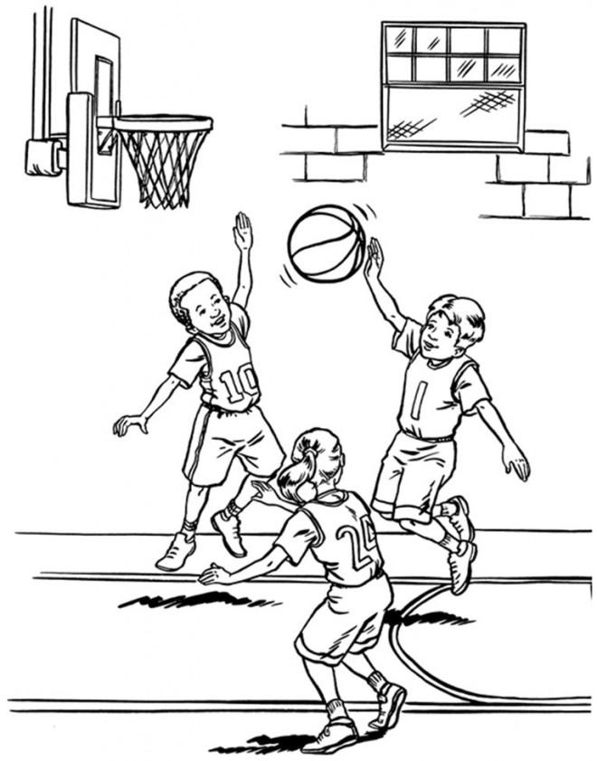 Coloriage et dessins gratuits Basketball Freestyle à imprimer
