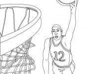 Coloriage Basketball Panneau