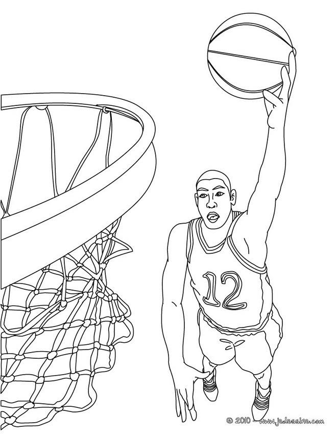 Coloriage Basketball Panneau dessin