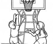 Coloriage et dessins gratuit Basketball pour enfant à imprimer
