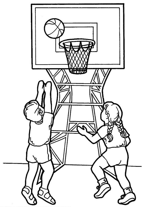 coloriage basketball pour enfant dessin gratuit imprimer. Black Bedroom Furniture Sets. Home Design Ideas