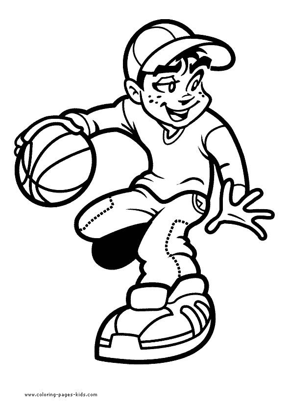 Coloriage et dessins gratuits Basketball spécial à imprimer